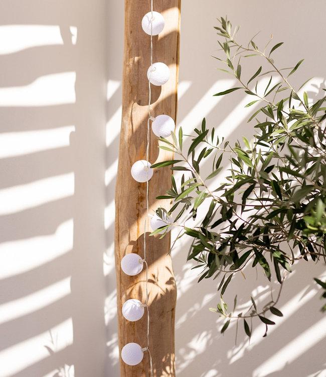 COTTON BALL LIGHTS Inspiration | Garden | Outdoor Cottonball String Light Blanco 2