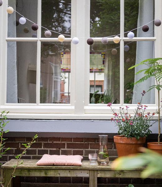 COTTON BALL LIGHTS Inspiration | Garden | Outdoor Cottonball String Light Marron 2