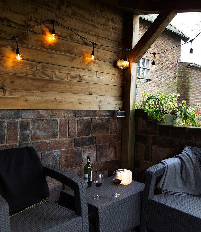 COTTON BALL LIGHTS Inspiration | Garden | Outdoor Premium Patio Book Lamp
