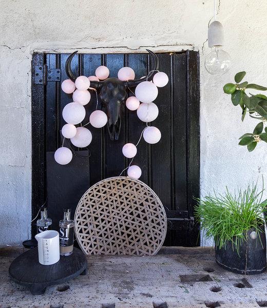 COTTON BALL LIGHTS Inspiration | Garden | Premium String Light Pure Whites
