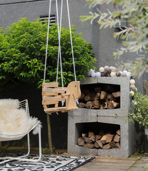 LUBANIDA Inspiration | Garden | Outdoor Cottonball String Light Marron 3