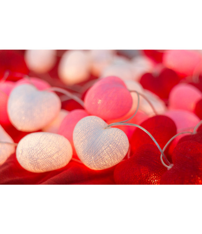 COTTON BALL LIGHTS Inspiration | Party | Hearts String Light Valentine 2