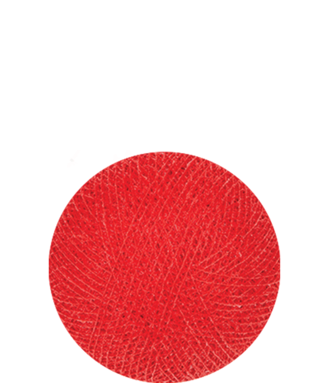 COTTON BALL LIGHTS Indoor Coral Red