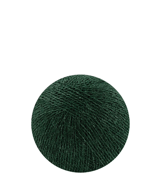 COTTON BALL LIGHTS Indoor Dark Green