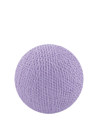 COTTON BALL LIGHTS Indoor Lavender