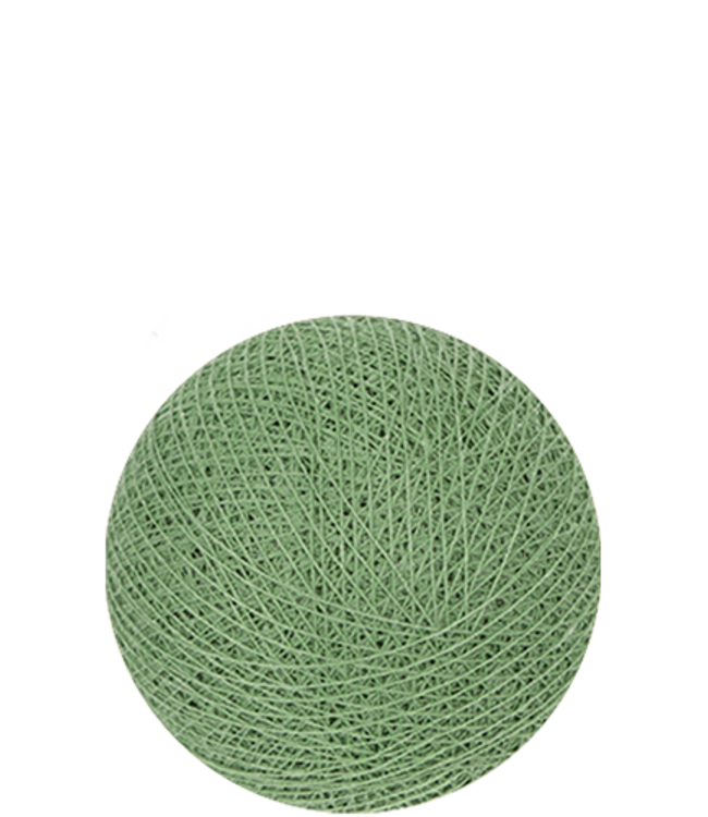 COTTON BALL LIGHTS Indoor Sage Green