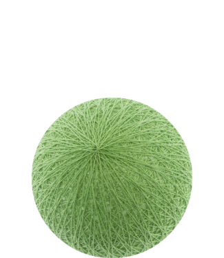 COTTON BALL LIGHTS Outdoor Sage Green