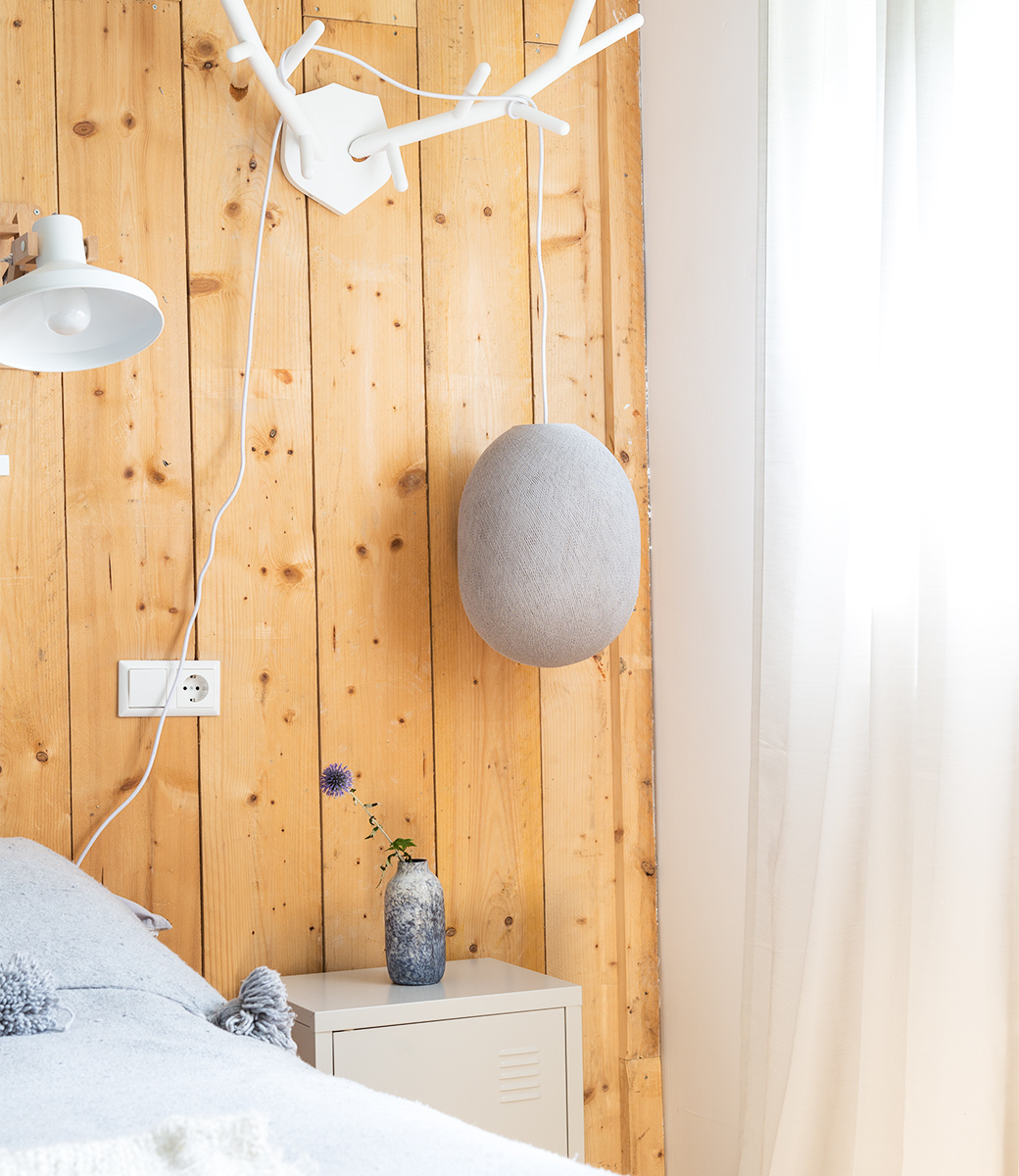 Cotton Ball Lights Oval hanglamp grijs - Stone