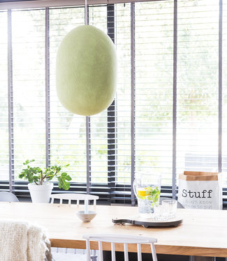 COTTON BALL LIGHTS Oval Hanging Lamp - Powder Green