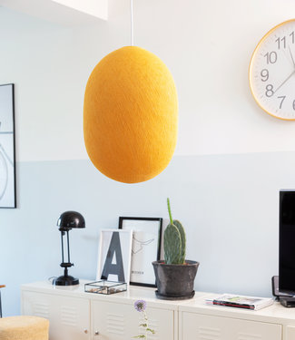 COTTON BALL LIGHTS Oval Hanging Lamp - Mustard Yellow