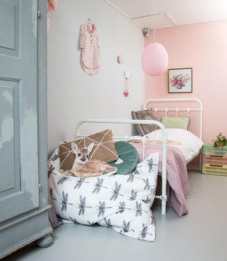 COTTON BALL LIGHTS Oval Hanging Lamp - Light Pink