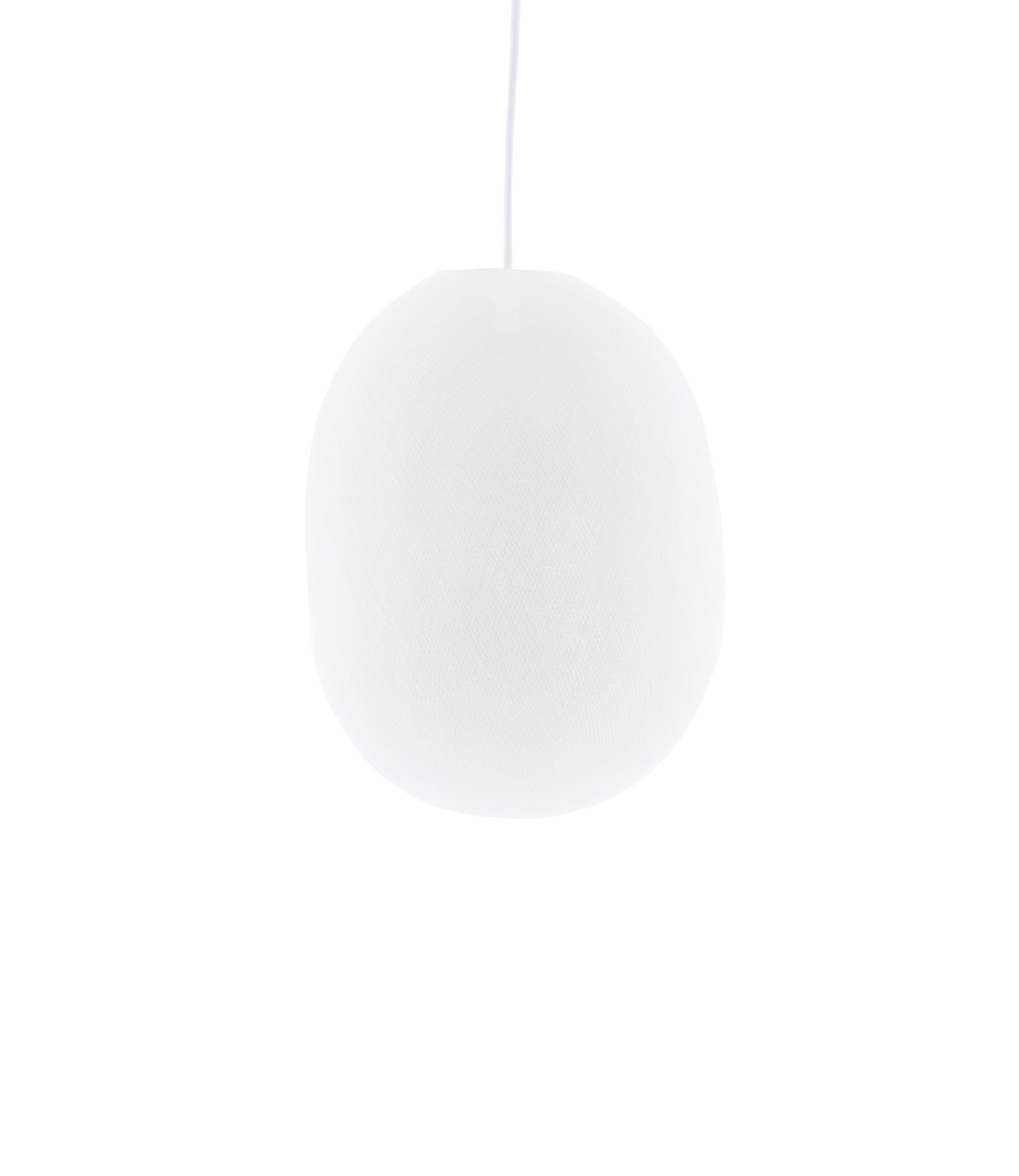 Cotton Ball Lights Oval hanglamp wit - White