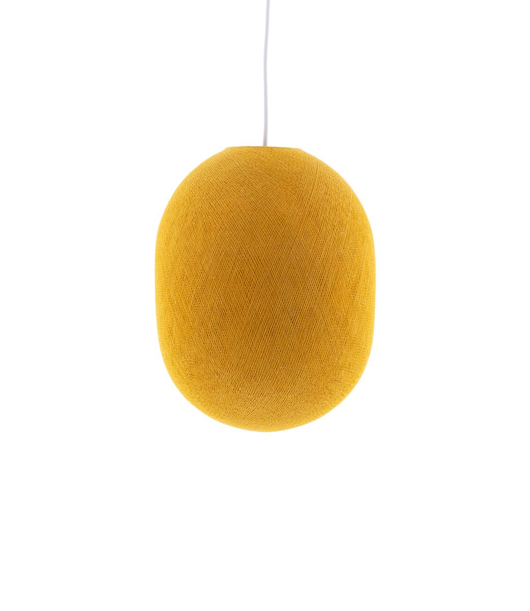 Cotton Ball Lights Oval hanglamp geel - Mustard Yellow