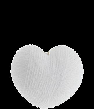 COTTON BALL LIGHTS Heart White
