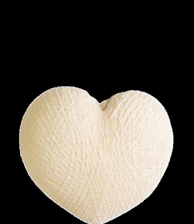 COTTON BALL LIGHTS Heart Shell