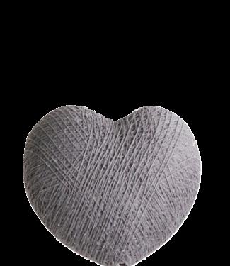 COTTON BALL LIGHTS Heart Mid Grey
