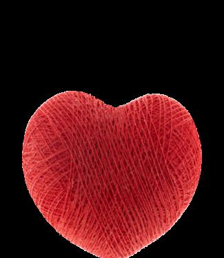 COTTON BALL LIGHTS Heart Red