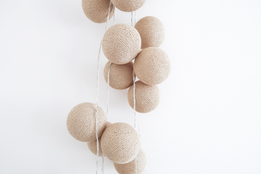 In Love with Cotton Ball Lights with Blogger @Nikyaliezen