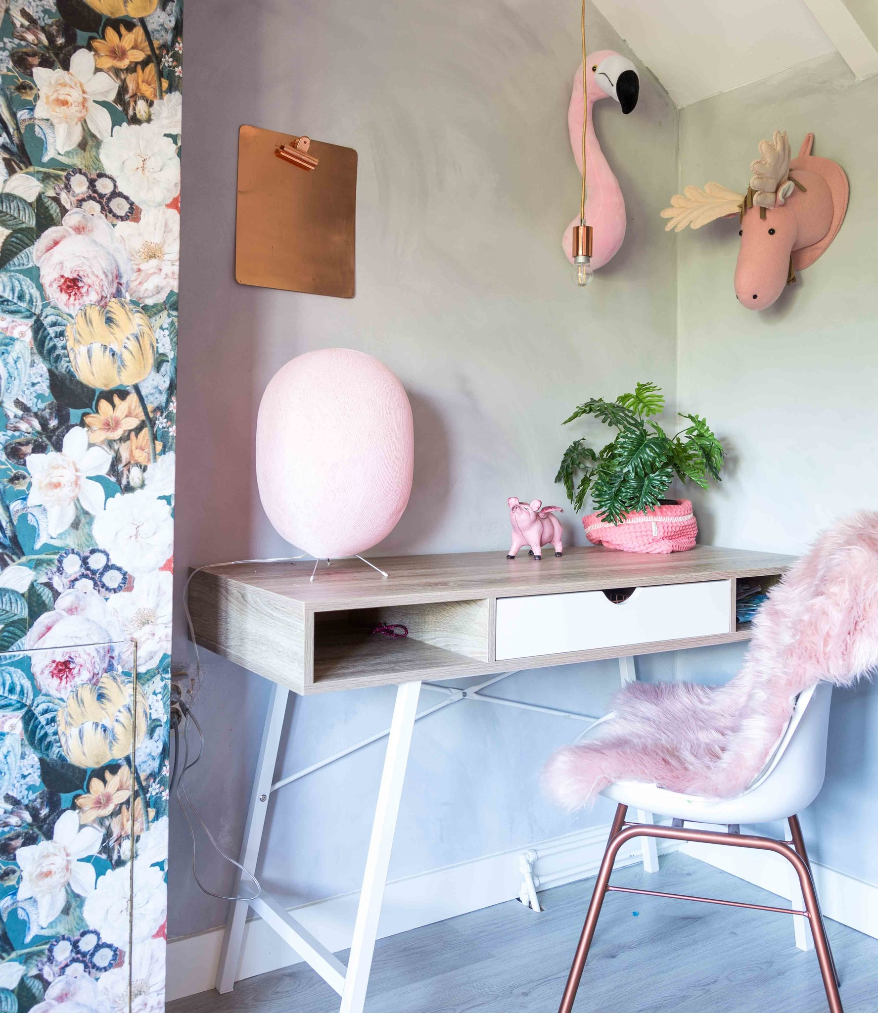 Cotton Ball Lights Oval staande lamp roze - Light pink