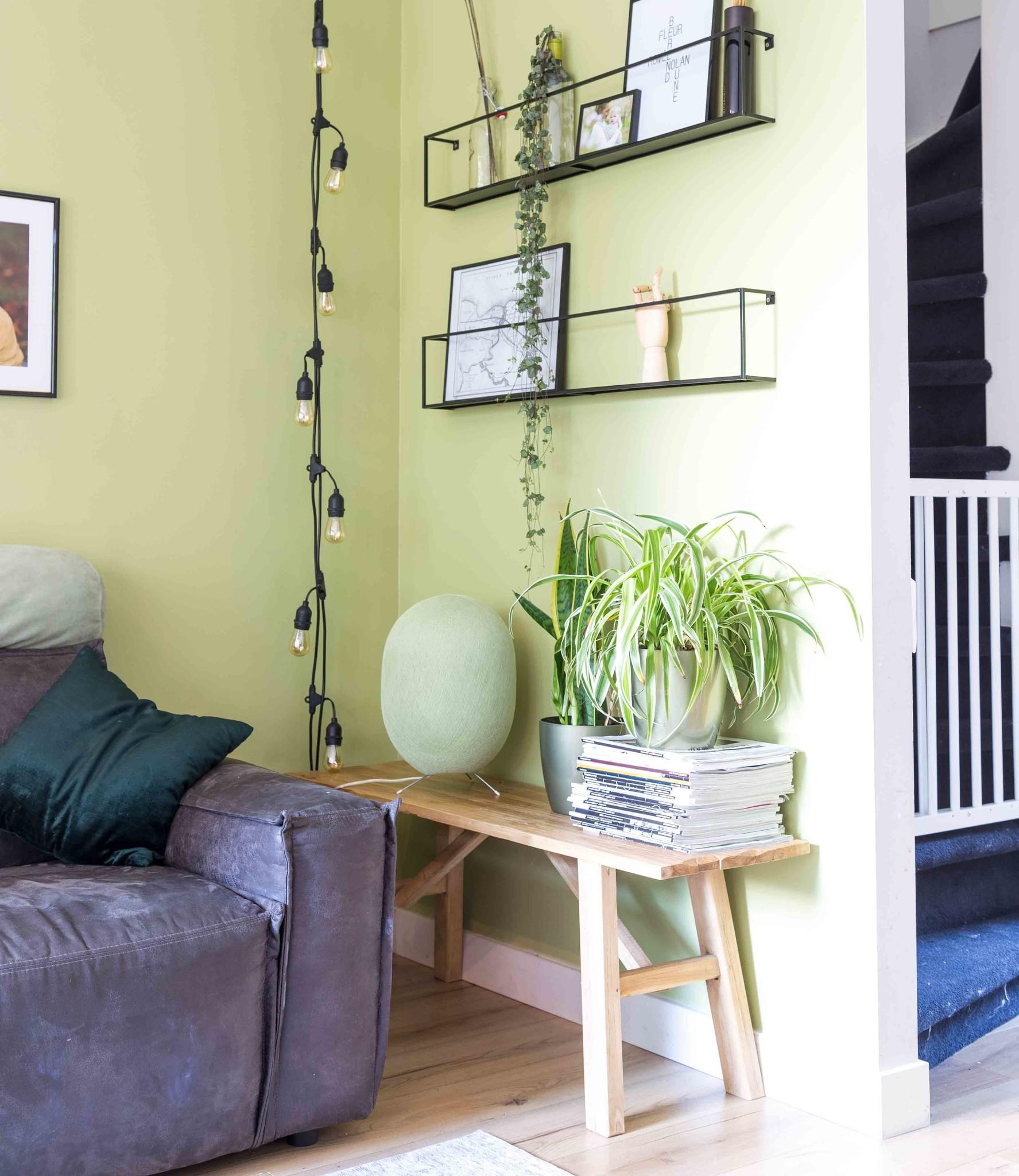 Cotton Ball Lights Oval staande lamp groen - Powder Green