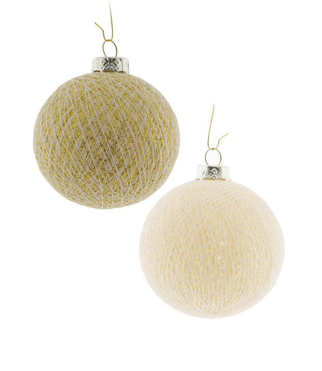 COTTON BALL LIGHTS Christmas Cotton Balls - Golden Star