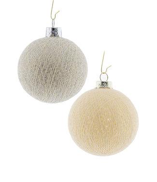 COTTON BALL LIGHTS Kerstmis Cotton Balls - Silver Bells
