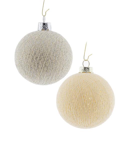 Weihnachts Cotton Balls - Silver Bells
