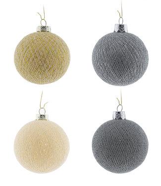COTTON BALL LIGHTS Christmas Cotton Balls - Shades of Christmas
