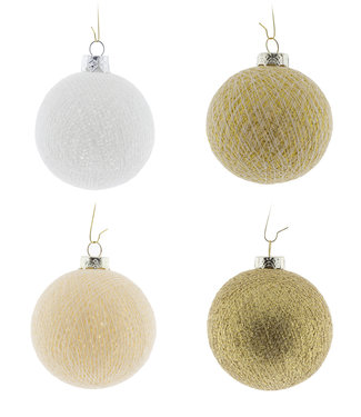 COTTON BALL LIGHTS Christmas Cotton Balls - Touch of Gold