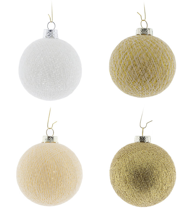 COTTON BALL LIGHTS Kerstmis Cotton Balls - Touch of Gold