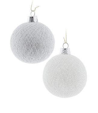 COTTON BALL LIGHTS Christmas Cotton Balls - Snowflakes