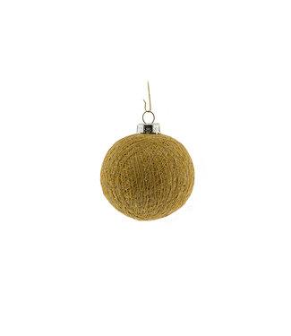 COTTON BALL LIGHTS Christmas Cotton Ball - Gold Brass