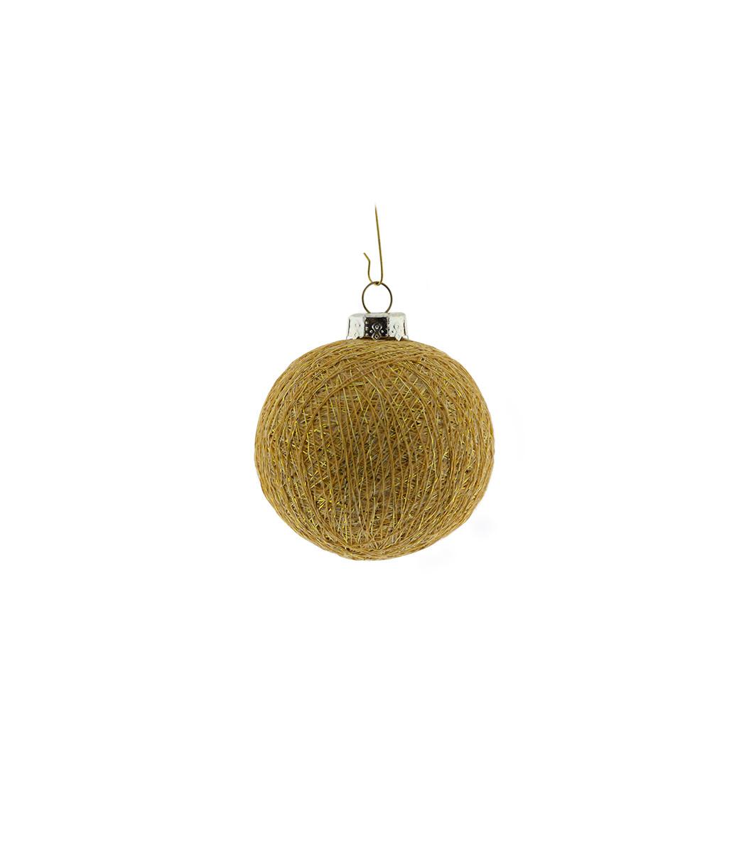 Cotton Ball Lighs kerstbal goud - Gold Brass