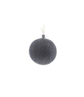 COTTON BALL LIGHTS Christmas Cotton Ball - Mid Grey