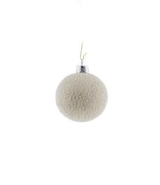 COTTON BALL LIGHTS Christmas Cotton Ball - Shell Silver