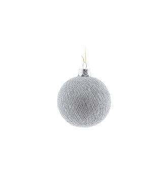 COTTON BALL LIGHTS Christmas Cotton Ball - Stone Silver