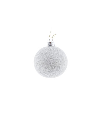 COTTON BALL LIGHTS Kerstmis Cotton Ball - White Silver
