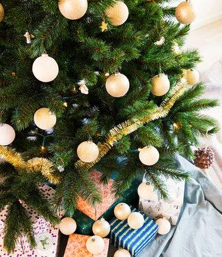COTTON BALL LIGHTS Inspiration   Christmas   Sparkling Shell Gold