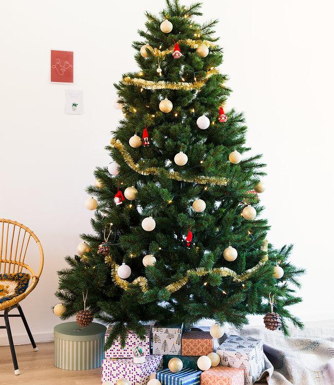 COTTON BALL LIGHTS Inspiratie | Kerst | Sparkling Shell Gold 2