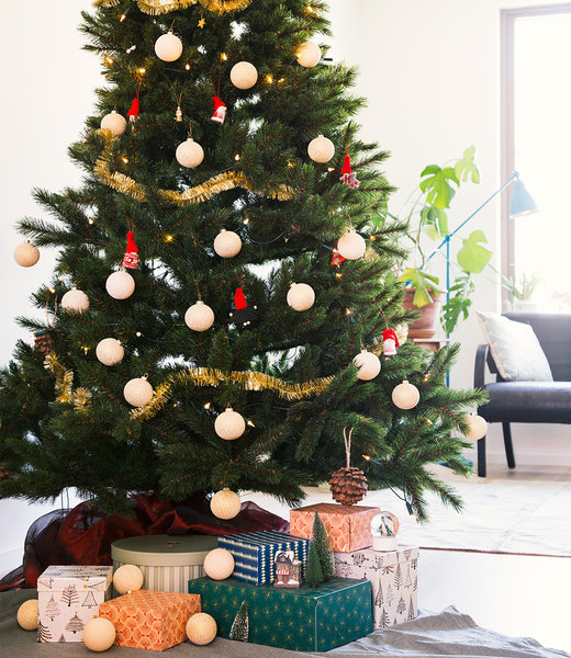 COTTON BALL LIGHTS Inspiratie | Kerst | Sparkling Shell Gold Christmas Cotton Ball