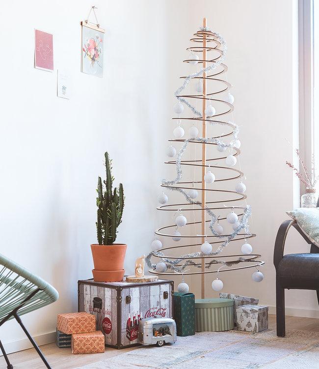 COTTON BALL LIGHTS Inspiration | Christmas | Sparkling White Silver Christmas Cotton Ball