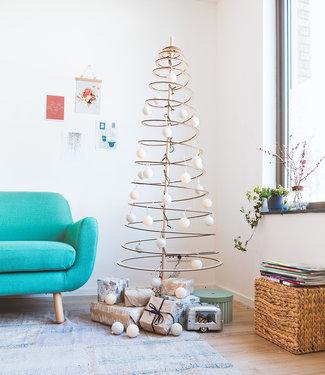 COTTON BALL LIGHTS Inspiration   Christmas   Sparkling Shell Silver Christmas Cotton Ball