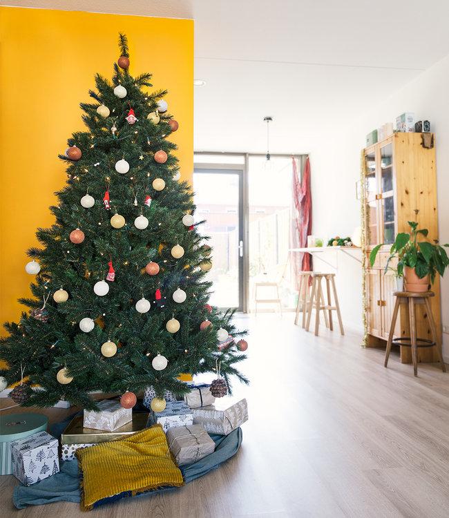 COTTON BALL LIGHTS Inspiratie | Kerst | Sparkling Gold Copper Christmas Cotton Ball