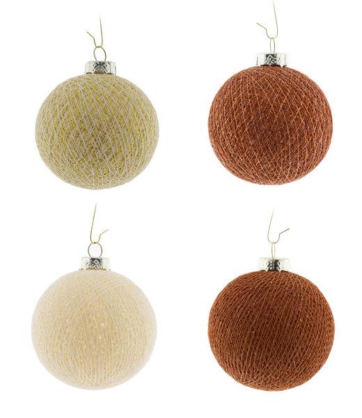Kerstmis Cotton Balls - Cosy Copper