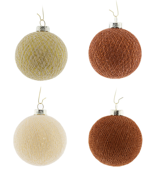 COTTON BALL LIGHTS Christmas Cotton Balls - Cosy Copper