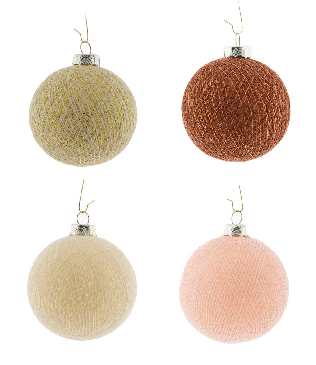 Cotton Ball Lights kerstballen roze - Touch of Glamour