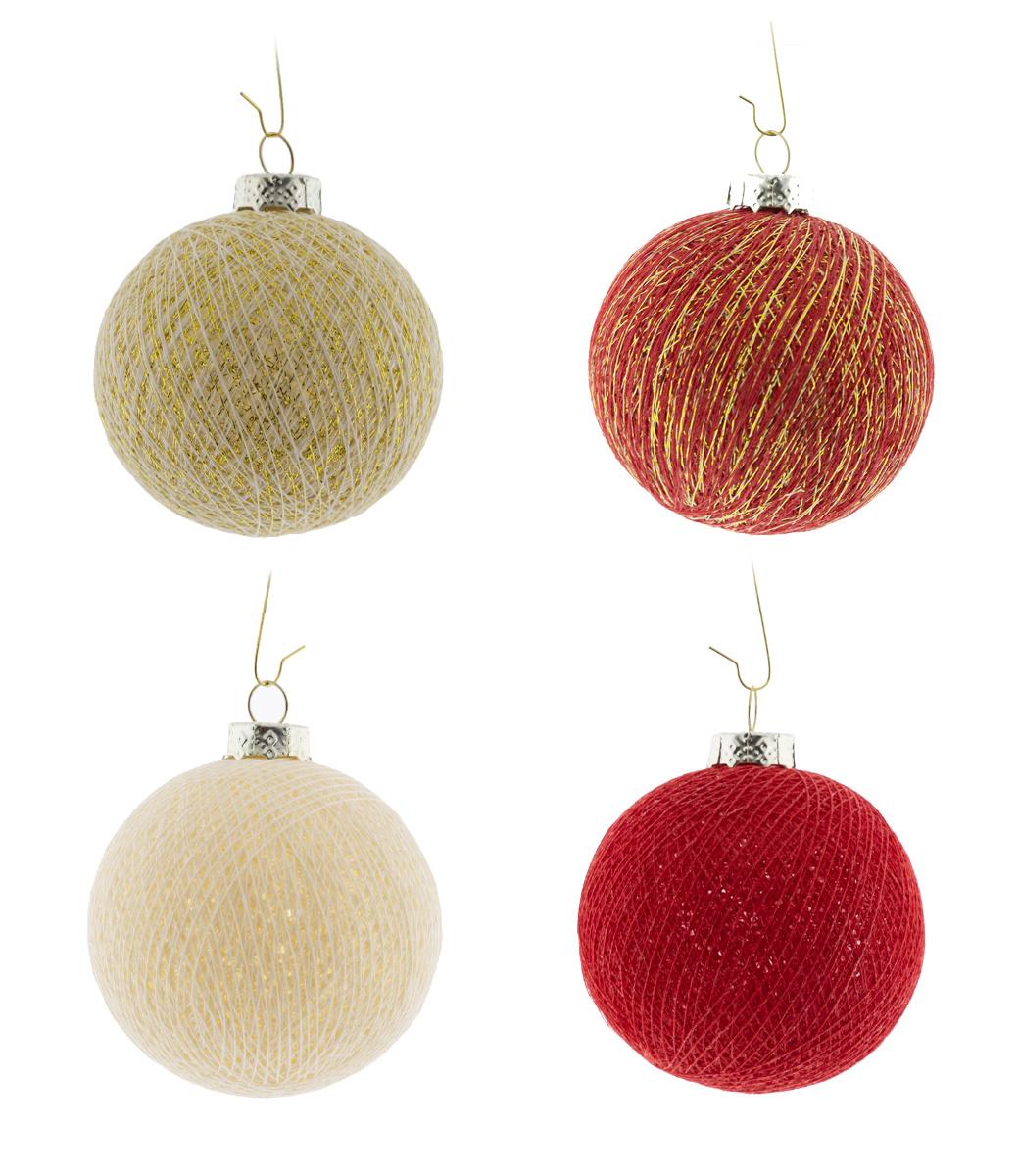 Cotton Ball Lights kerstballen rood - Merry Gold