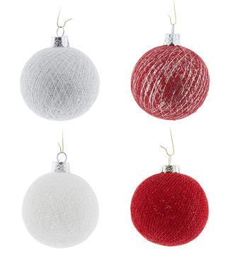COTTON BALL LIGHTS Kerstmis Cotton Balls - Merry Silver