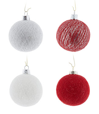 COTTON BALL LIGHTS Kerstmis Cotton Balls - Merry Silver