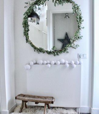 COTTON BALL LIGHTS Inspiration   Christmas   Premium Light String Pure Whites (@wonen_bij_chantal)
